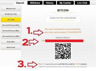 CoinBase Bitcoin Sportsbook Deposits Step 3
