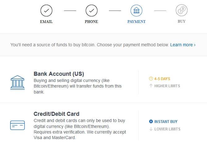 CoinBase.com Bitcoin Registration Step 4
