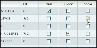 Win Place Show Betting