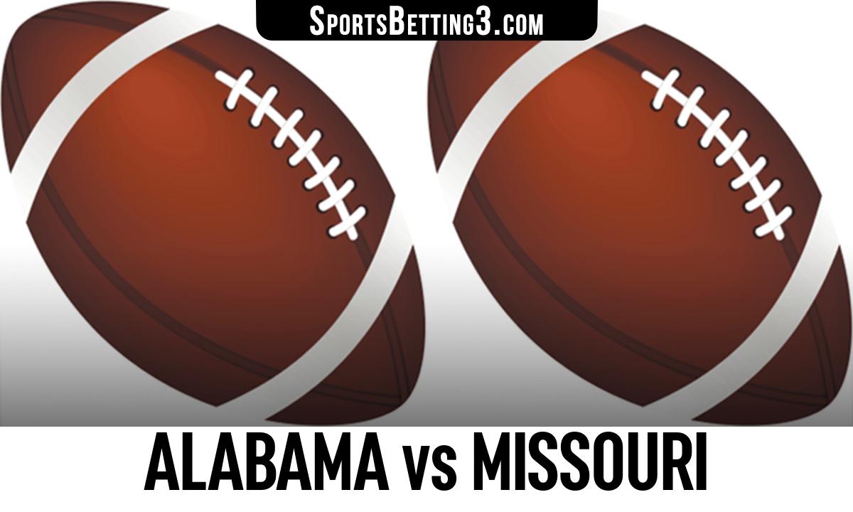 Alabama vs Missouri Betting Odds