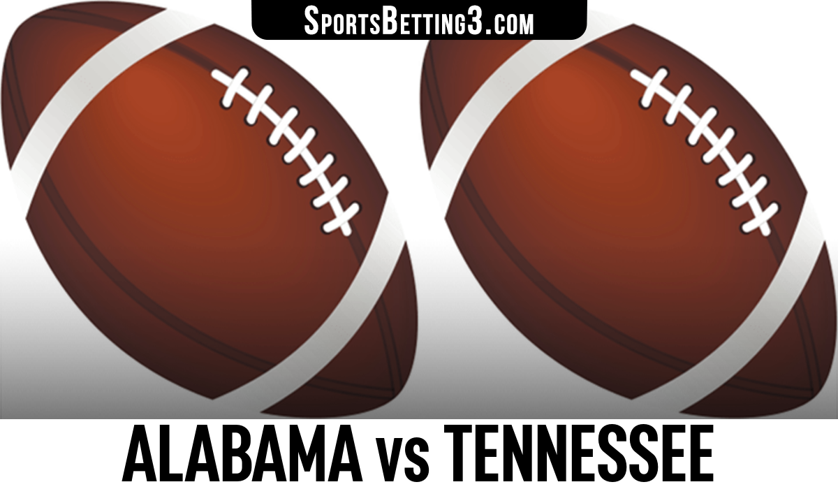 Alabama vs Tennessee Betting Odds