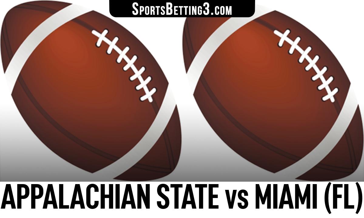 Appalachian State vs Miami (FL) Betting Odds