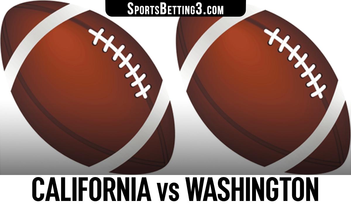 California vs Washington Betting Odds