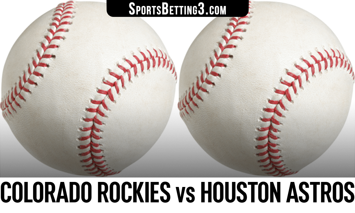 Colorado Rockies vs Houston Astros Betting Odds