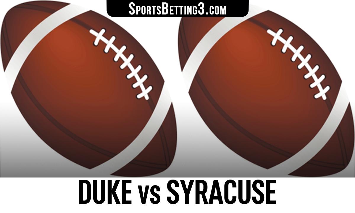Duke vs Syracuse Betting Odds