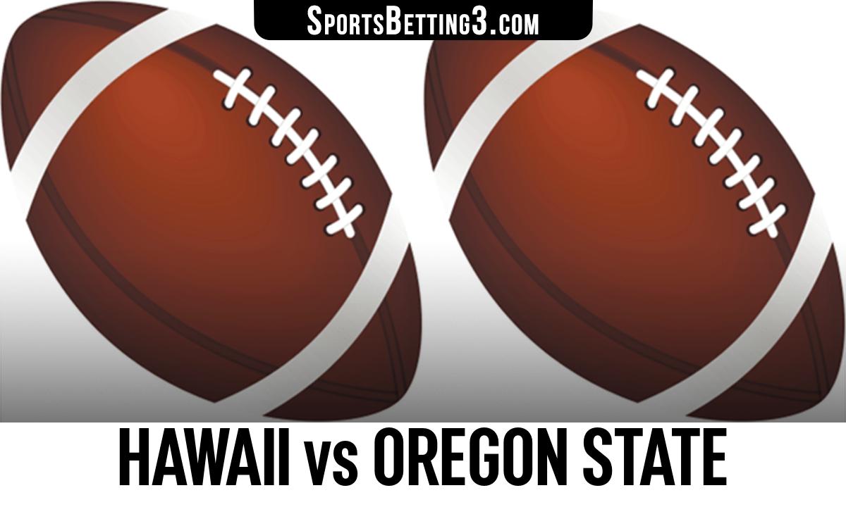Hawaii vs Oregon State Betting Odds
