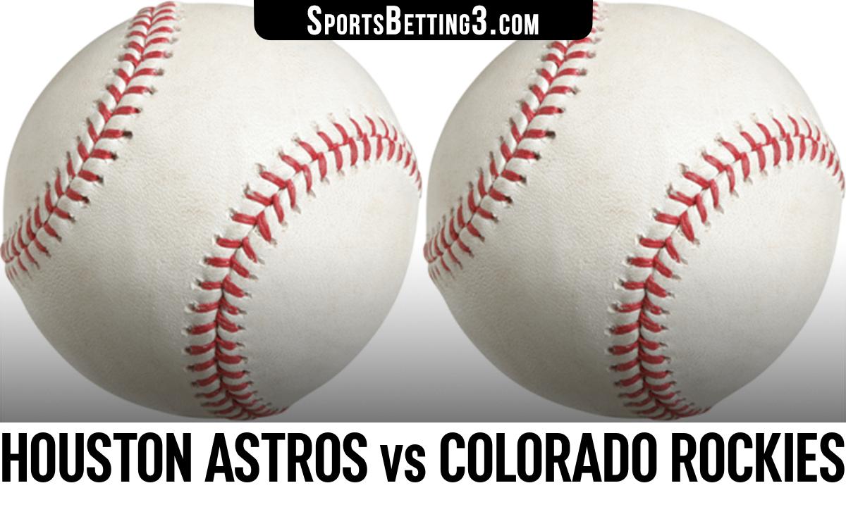 Houston Astros vs Colorado Rockies Betting Odds