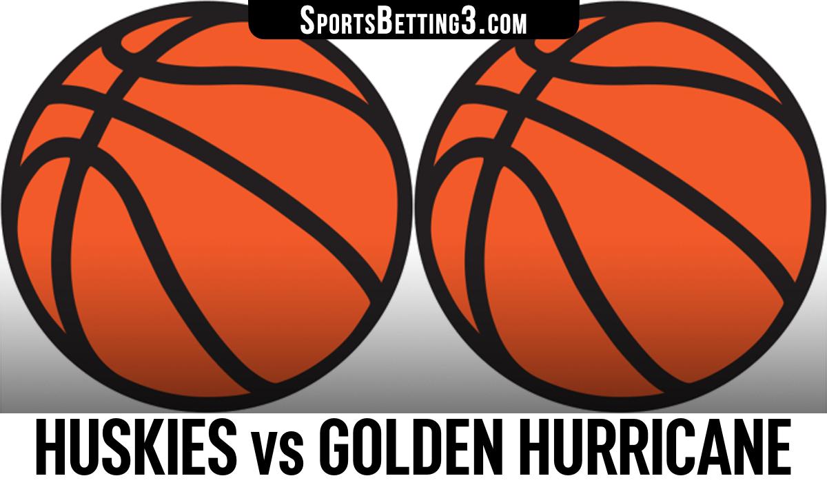Huskies vs Golden Hurricane Betting Odds