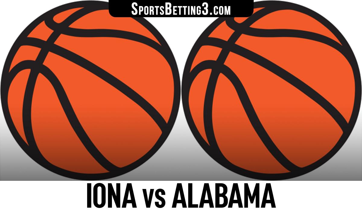 Iona vs Alabama Betting Odds
