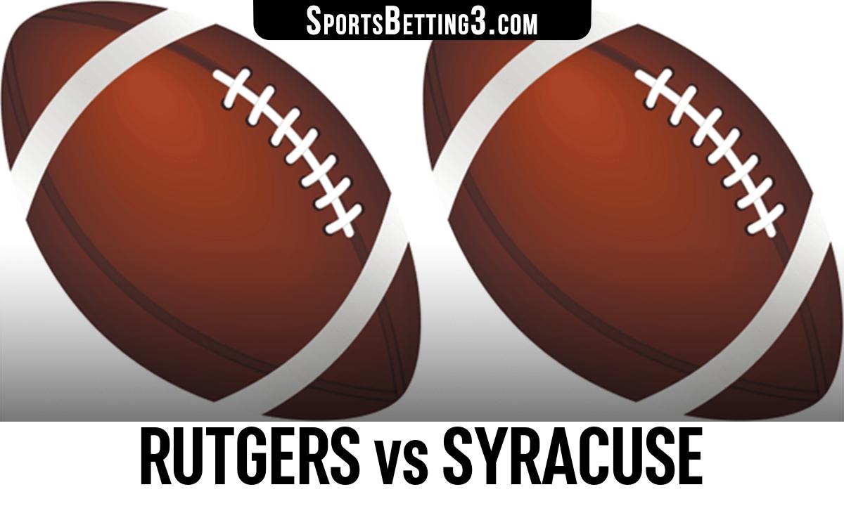 Rutgers vs Syracuse Betting Odds