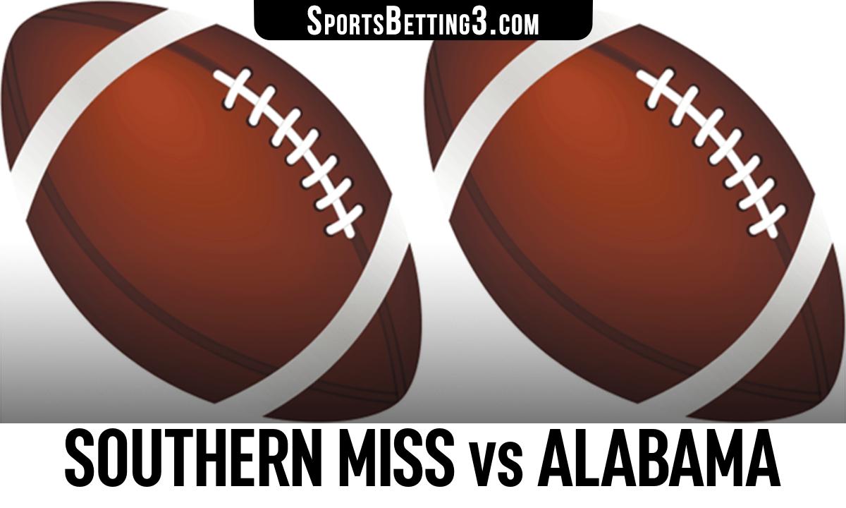 Southern Miss vs Alabama Betting Odds