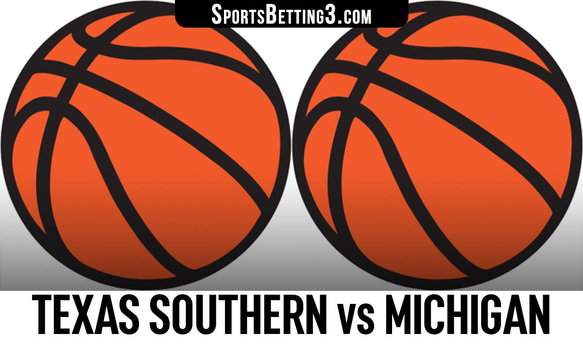 Texas Southern vs Michigan Betting Odds