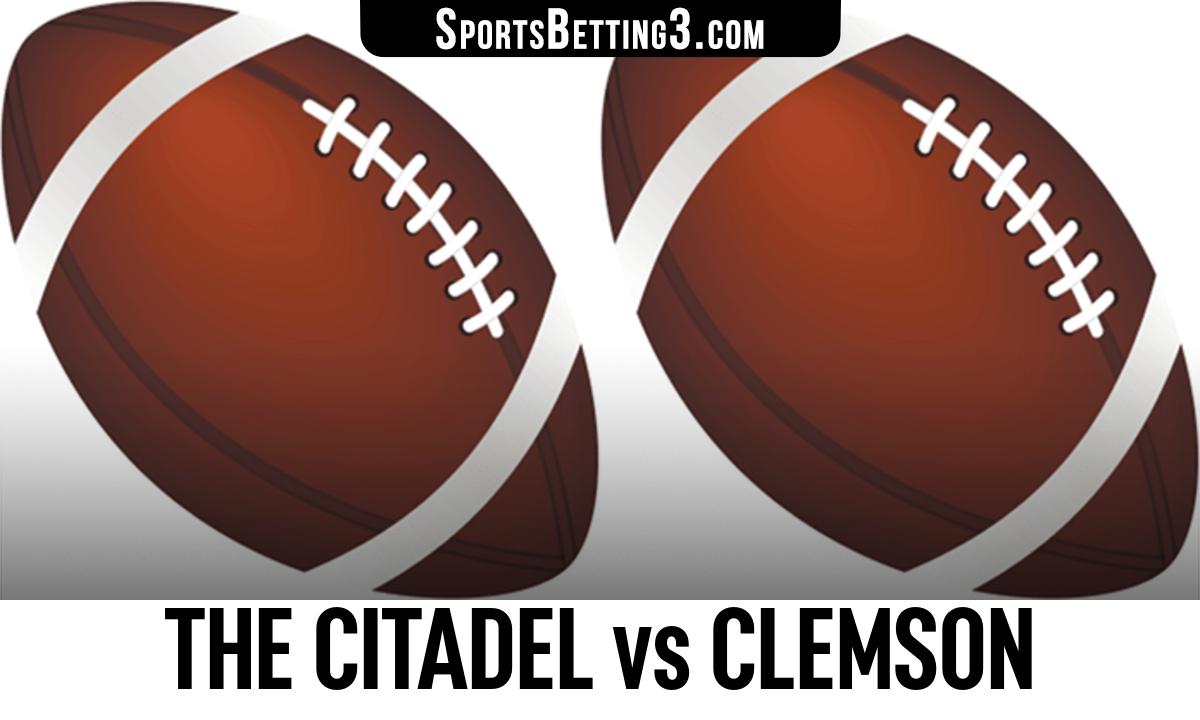 The Citadel vs Clemson Betting Odds