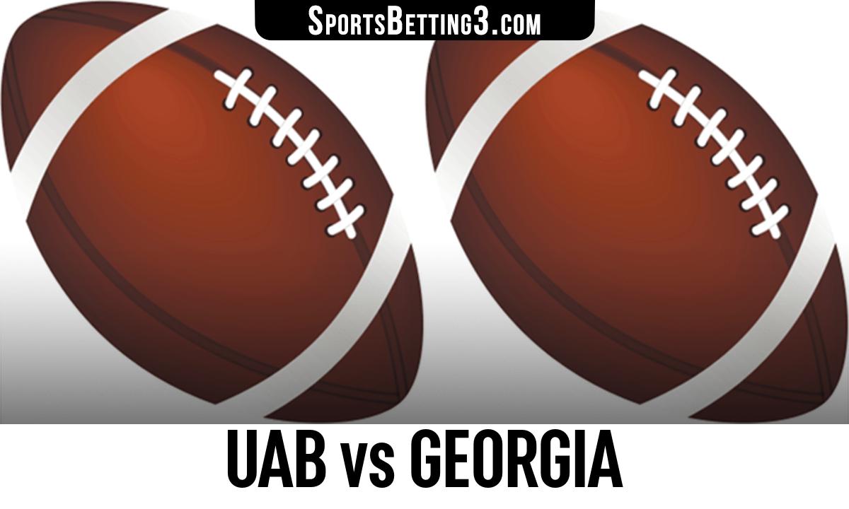 UAB vs Georgia Betting Odds