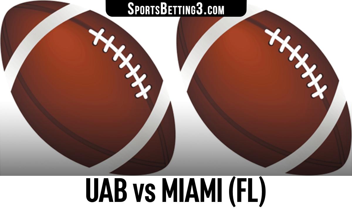 UAB vs Miami (FL) Betting Odds
