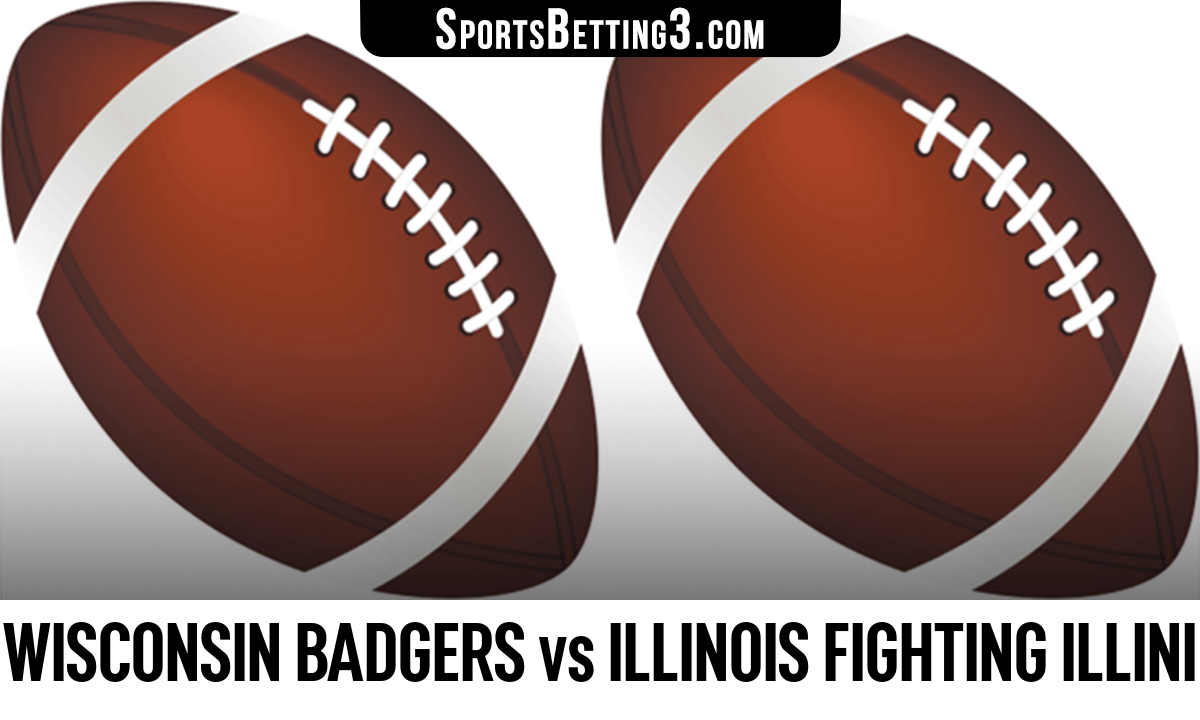 Wisconsin Badgers vs Illinois Fighting Illini Betting Odds