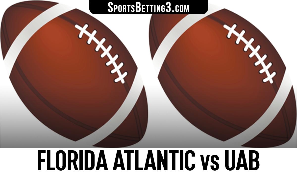 Florida Atlantic vs UAB Betting Odds